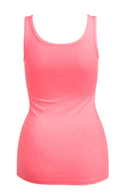 Pink Heather Cab Tank