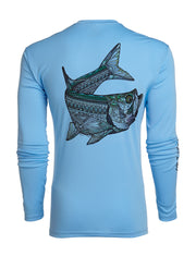 Columbia Blue Larko Tarpon Long Sleeve