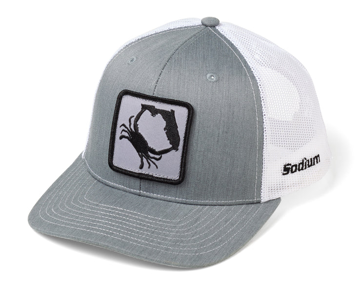 Heather Grey White FL Crab Patch Adj Hat