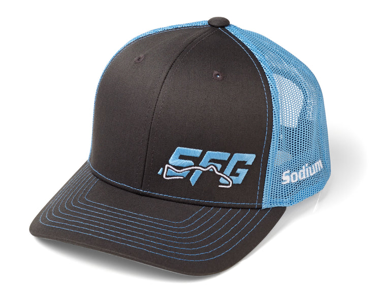 Charcoal/Columbia Blue SFG Adj Hat