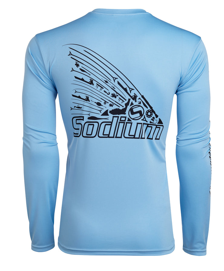 Tackle Tail Columbia Blue Long Sleeve
