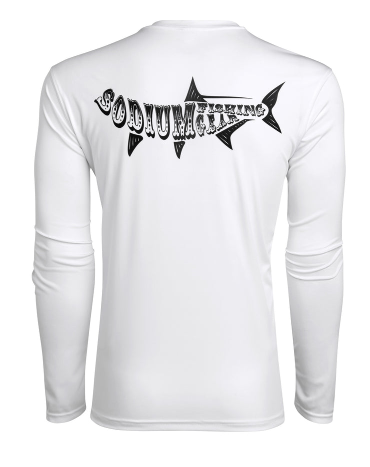 White Sodium Tarpon Long Sleeve