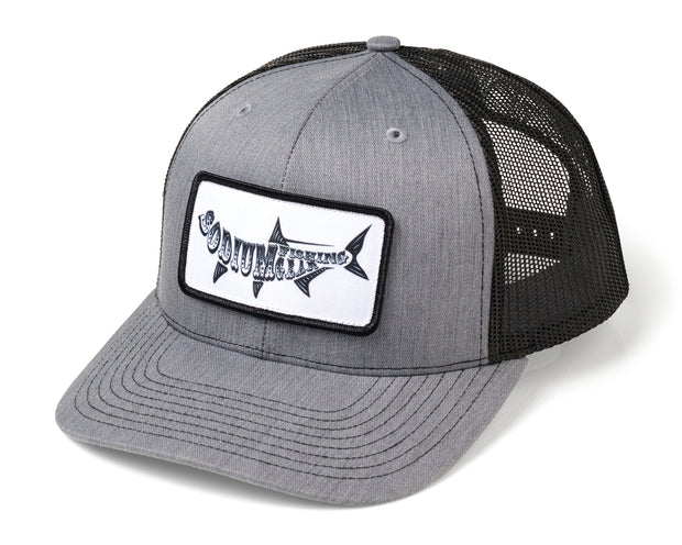 Heather Grey Black Sodium Tarpon Patch Adj Hats