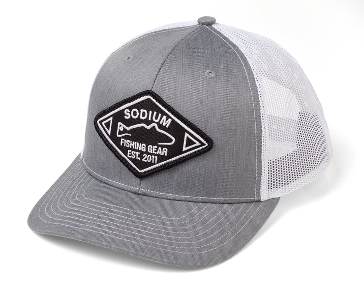 Heather Grey White Sodium Est. Patch Adj Hat