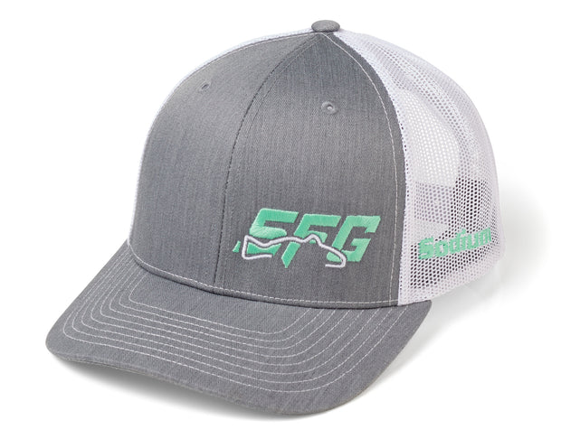 Heather Grey White/Mint SFG Logo Adj Hat
