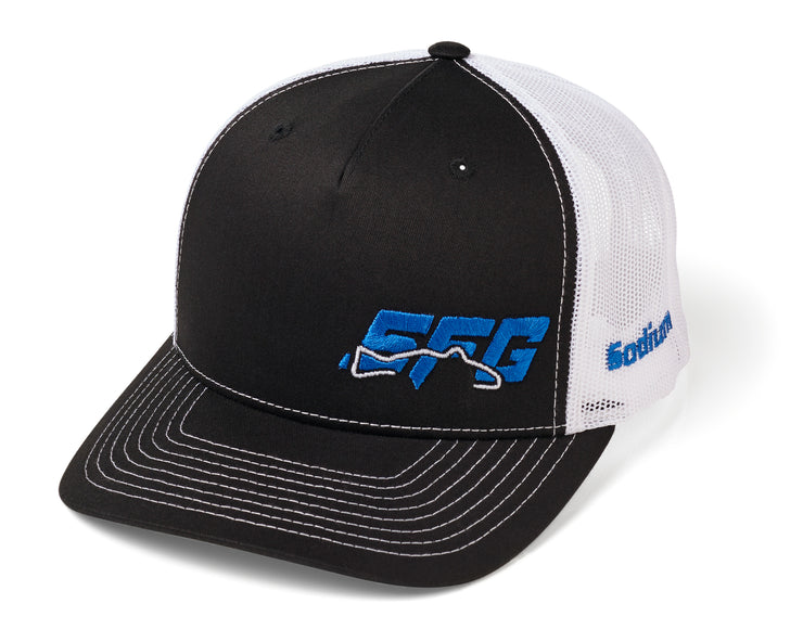 Black/White Five Panel SFG Adj Hat