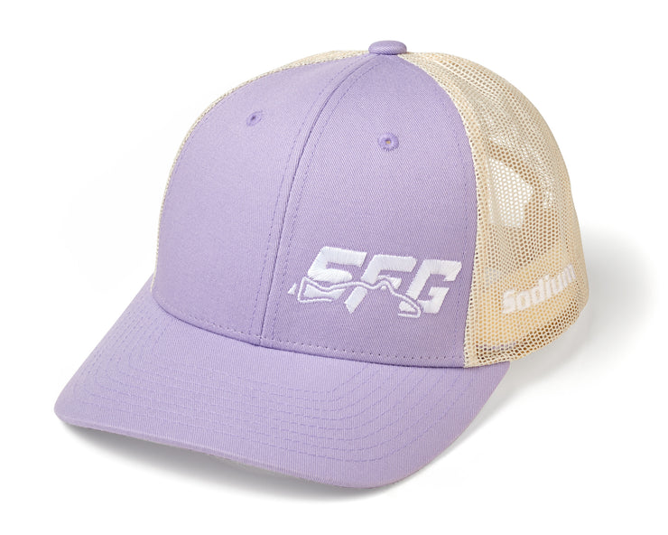 Lilac/Birch SFG White Adj Hat
