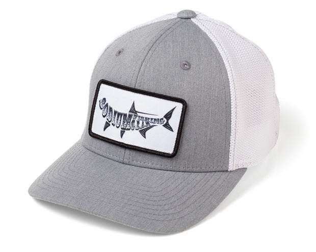Heather Grey/White Sodium Tarpon Patch Flexfit Hat