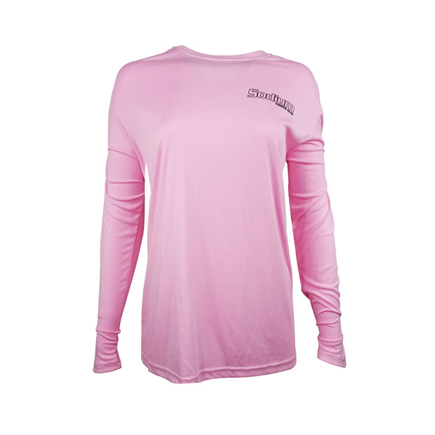 Sodium Women's Pink Larko Tarpon Long Sleeve
