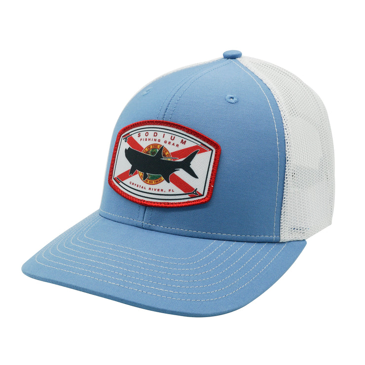 Columbia Blue/White Florida Flag Tarpon Adj Hat