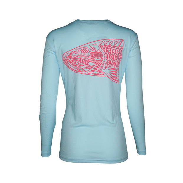 Sodium Women's Sodium Ice Blue Tarpon Long Sleeve