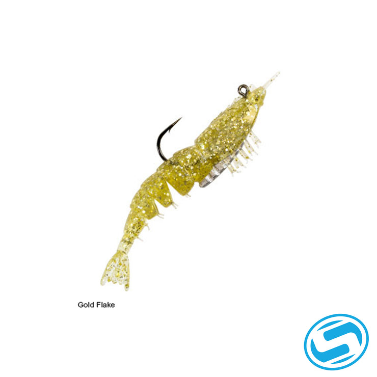 "Zman Gold Flake 3.5"" EZ ShrimpZ Rigged"