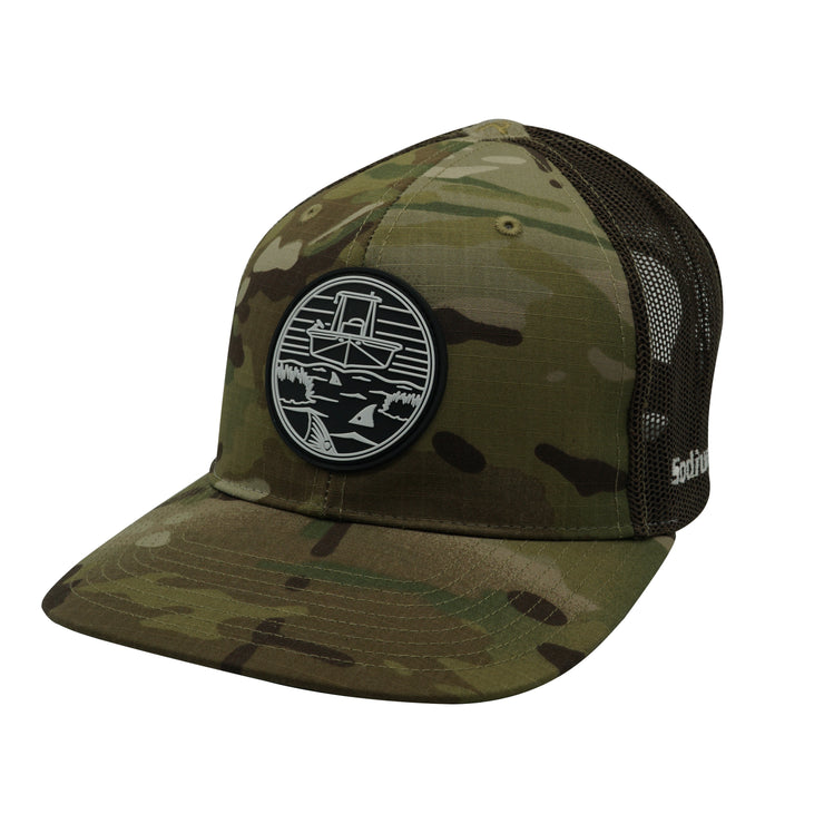 Multicam/Coyote Brown Skiff Marsh Patch Adj Hat