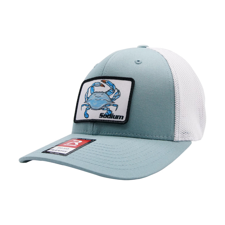 Seafoam/White Fitted Blue Crab Patch Hat