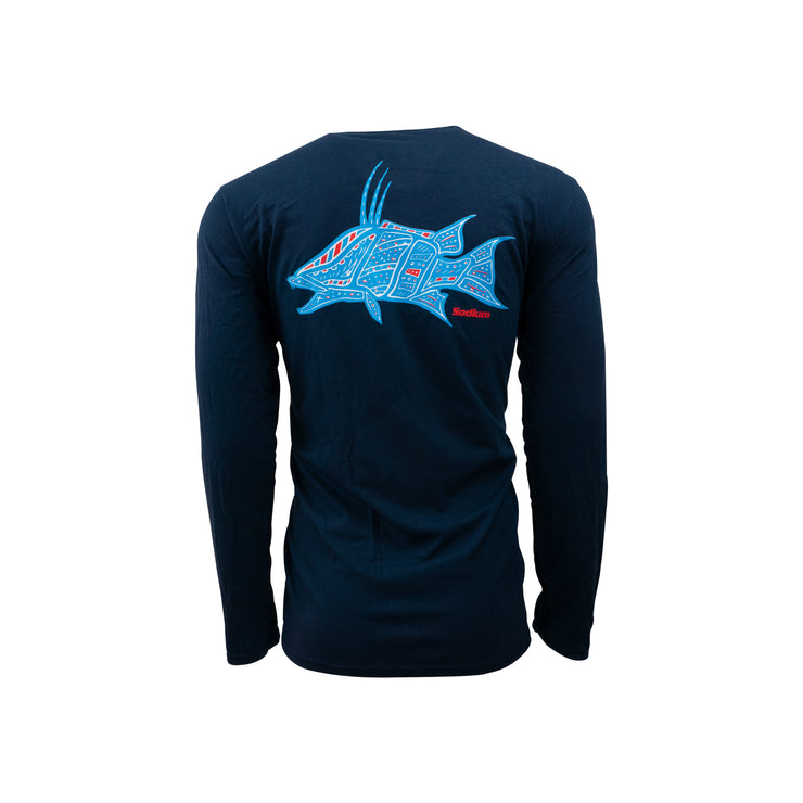 Men's Navy Hogfish Constellation Sodium Long Sleeve
