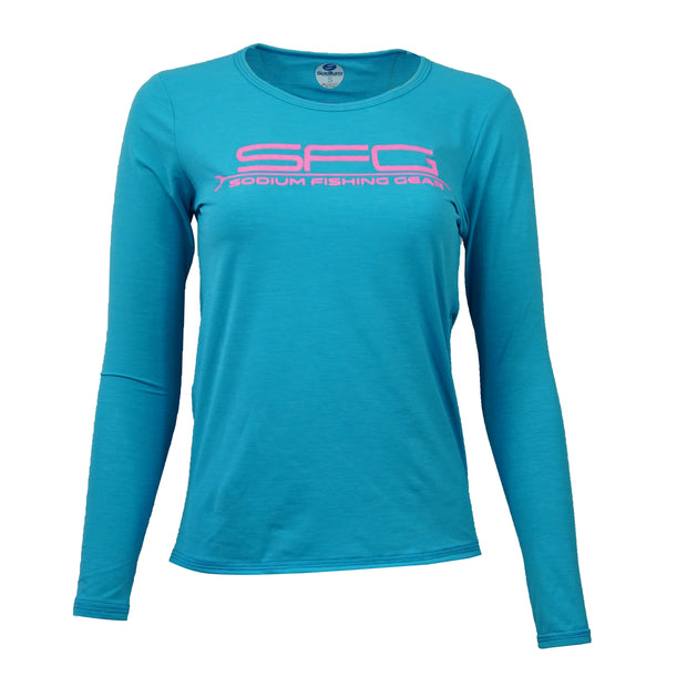 Women's Blue/Pink Ocean Tech Long Sleeve