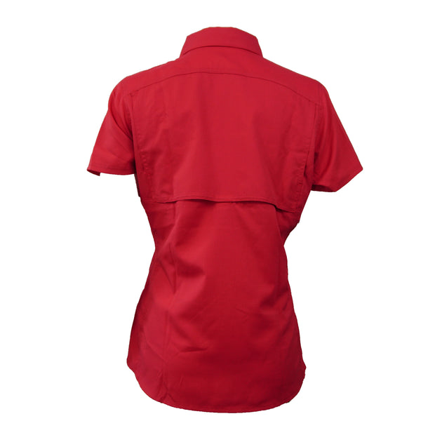 Sodium Women's Red/Black Collar SFG Short Sleeve