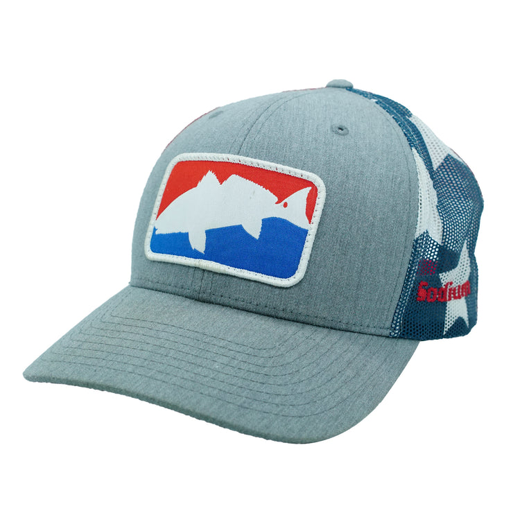 Red White Blue Redfish Patch Adj Hat