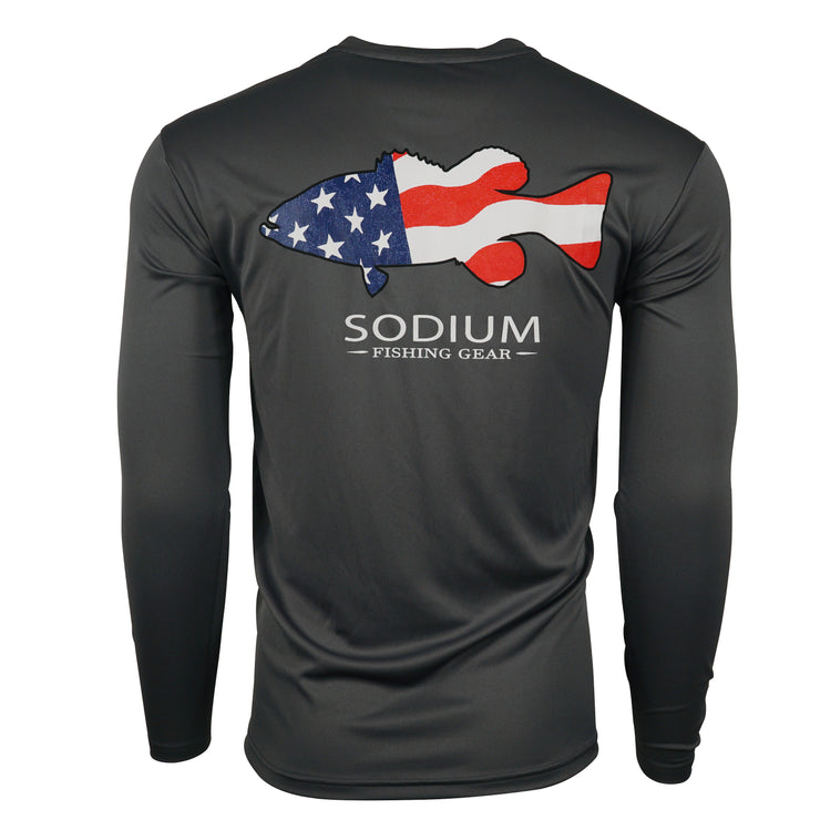 Sodium American Flag Grouper Long Sleeve