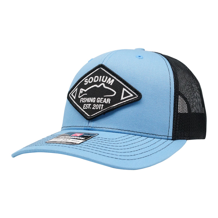 Columbia Blue/Black Redfish Diamond Est Patch Adj Hat