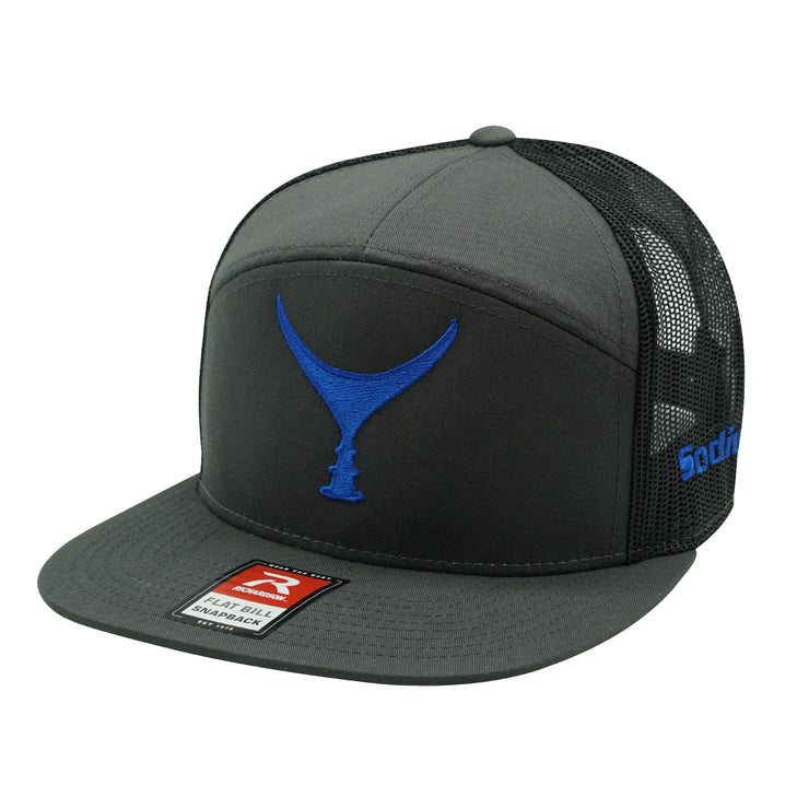 Heather Charcoal Black Blue Tuna Tail Adj Hat