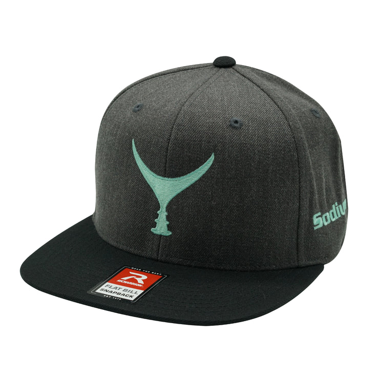 Heather Charcoal Black Seafoam Tuna Tail Adj Hat