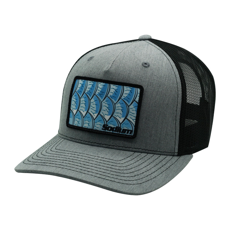 Heath Grey/Black Tarpon Patch Trucker Adj Hat