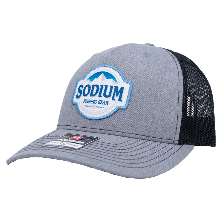Sodium Grey/Black Blue Mountains Patch Hat
