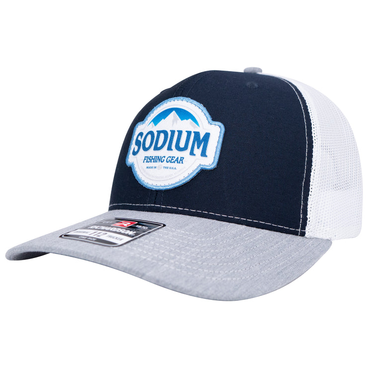Sodium Grey/Navy/White Blue Mountains Patch Hat