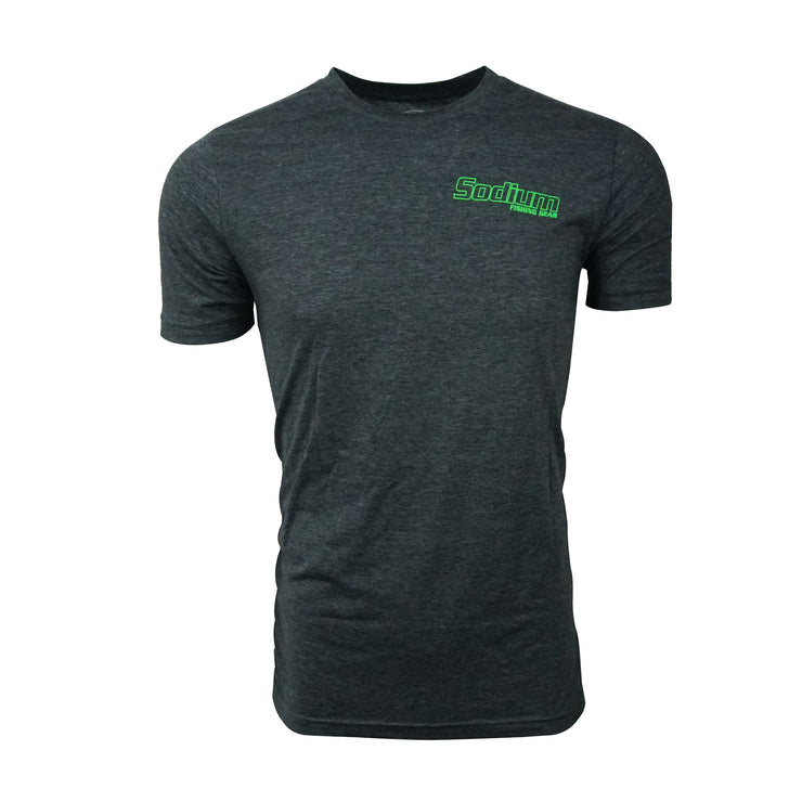 Men's Heather Charcoal/Lime Green Short Sleeve