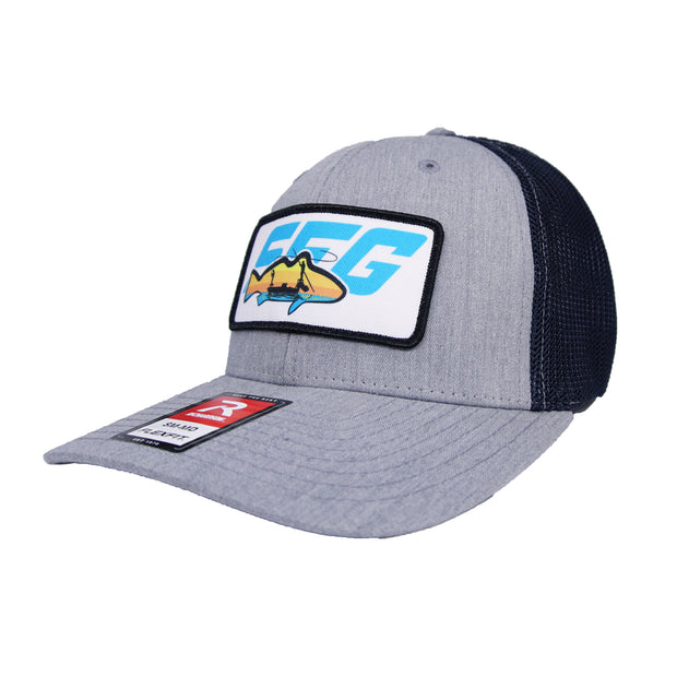 Heather/Grey SFG Leather Patch Flexfit Hat