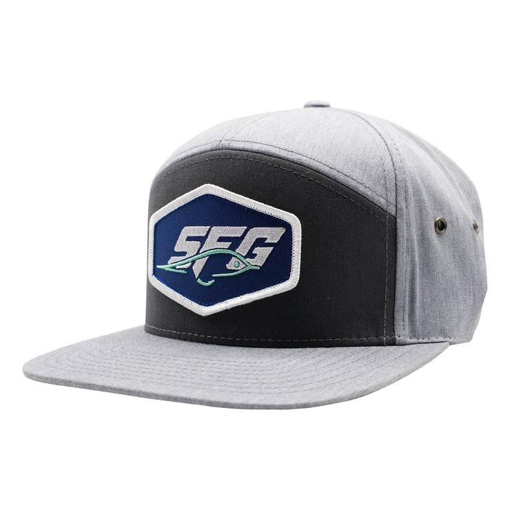 Heather Grey 7 Panel SFG Fly Patch Flat Bill Hat