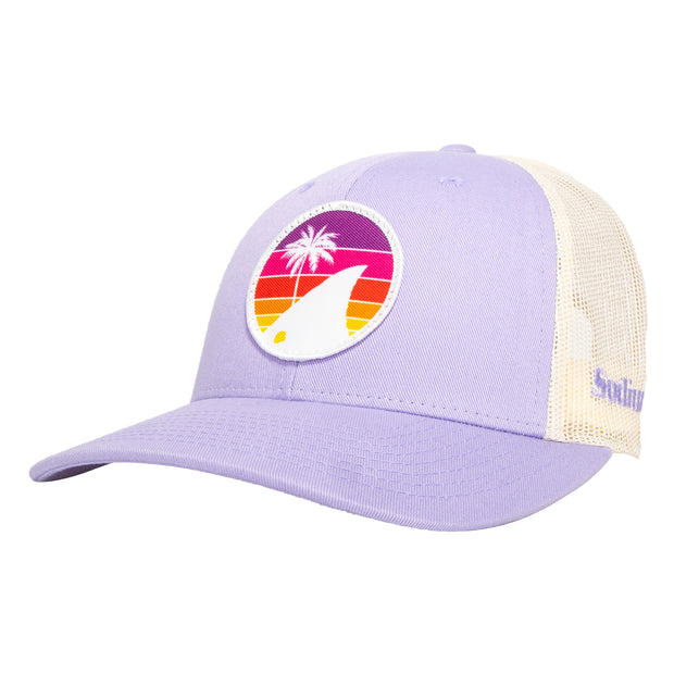 Lilac/Birch Sodium Rainbow Redfish Patch Tail Adj Hat