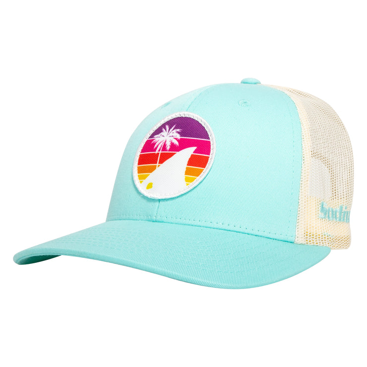 Seafoam/Tan Sodium Rainbow Redfish Tail Patch Adj Hat