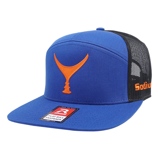 Royal Blue/Black Orange Tuna Tail Adj Hat