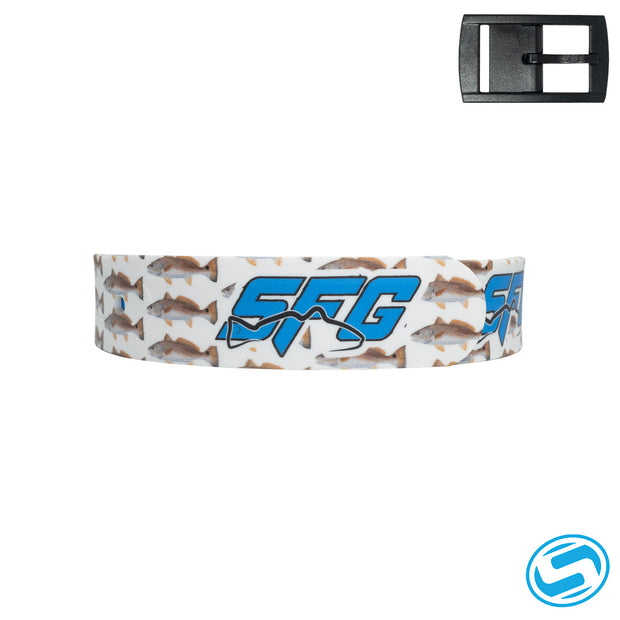 White SFG Redfish Belt