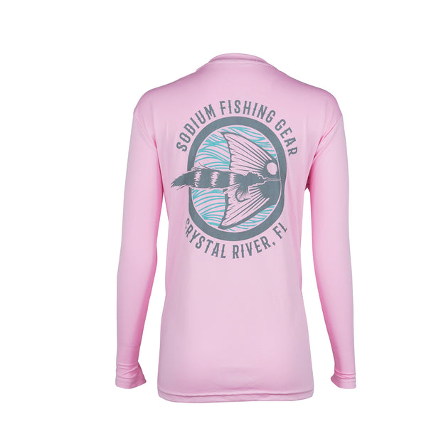 Youth Light Pink Seafoam Red Tail Long Sleeve