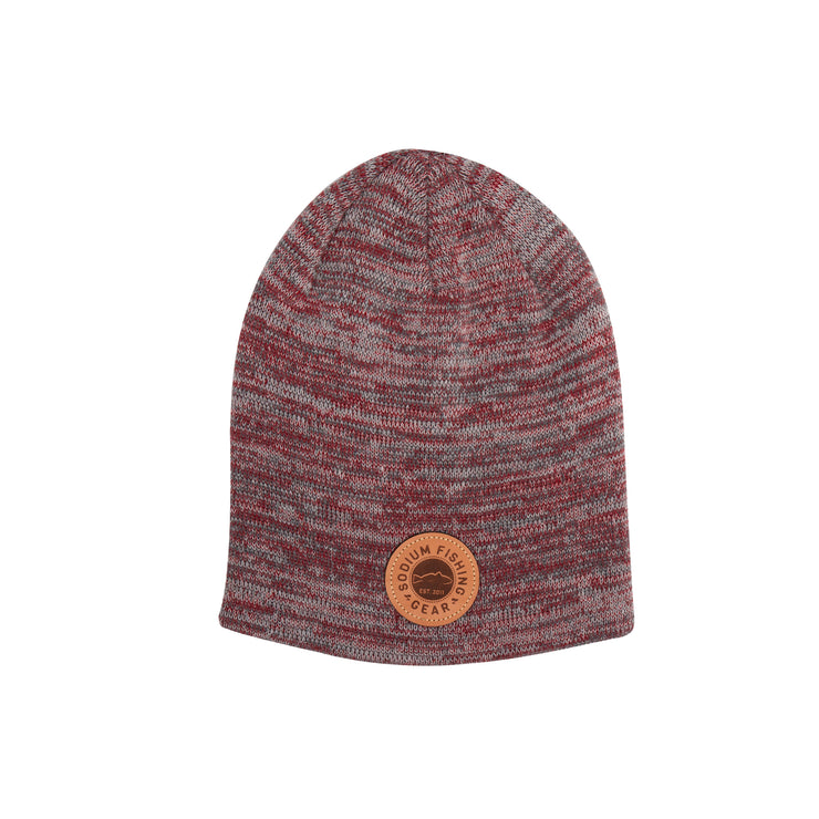 Red/Grey/Charcoal Sodium Redfish Patch Beanie
