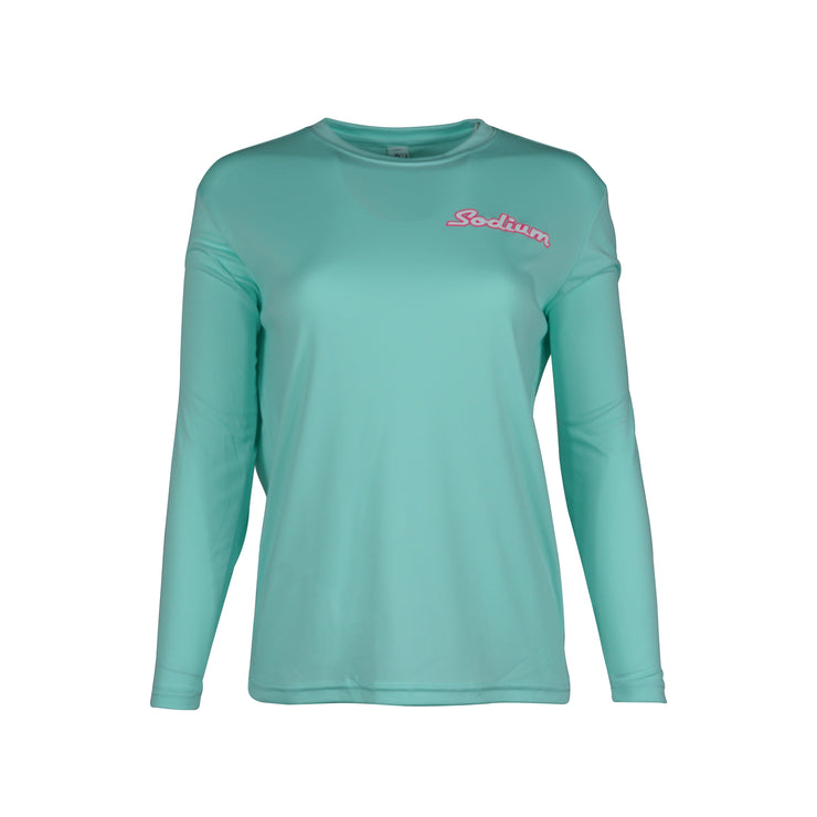 Sodium Youth Seafoam Pink Florida RedFish Long Sleeve