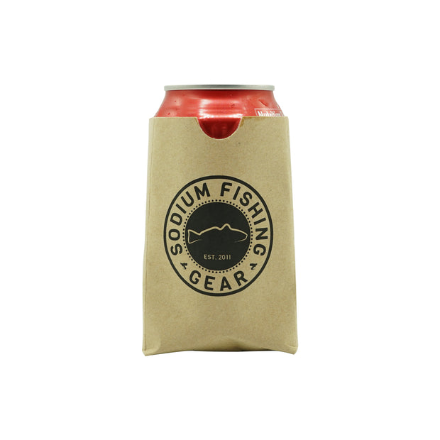 Can Coozie Brown Bag