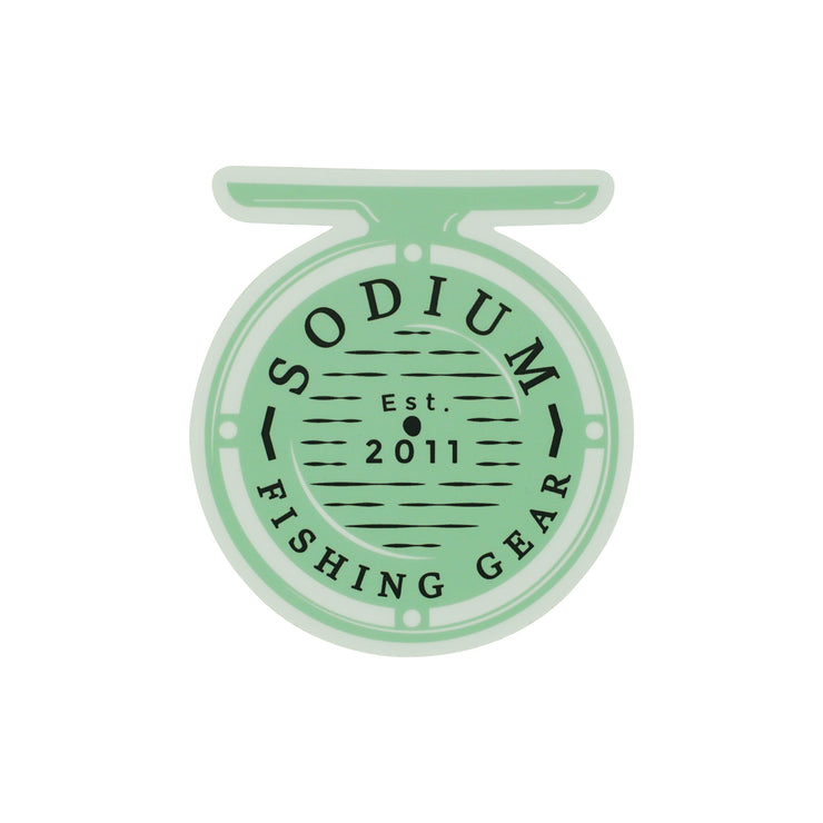 Seafoam Fly Reel Sodium Sticker
