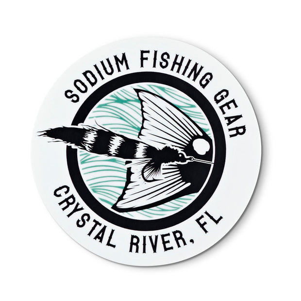 Sodium Sticker 03FlyFishRound
