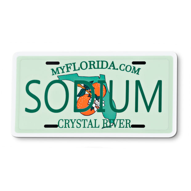 Florida License Plate Sodium Sticker