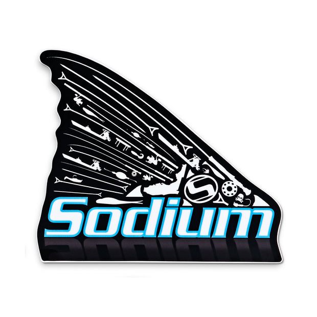 Black Sodium Redfish Sticker