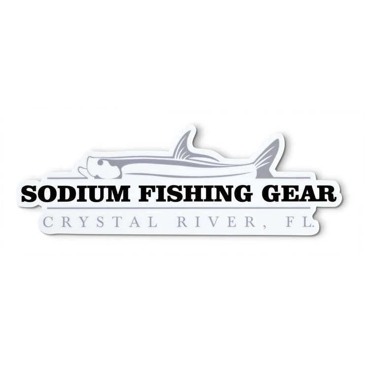 Grey/Black Sodium Snook Sticker