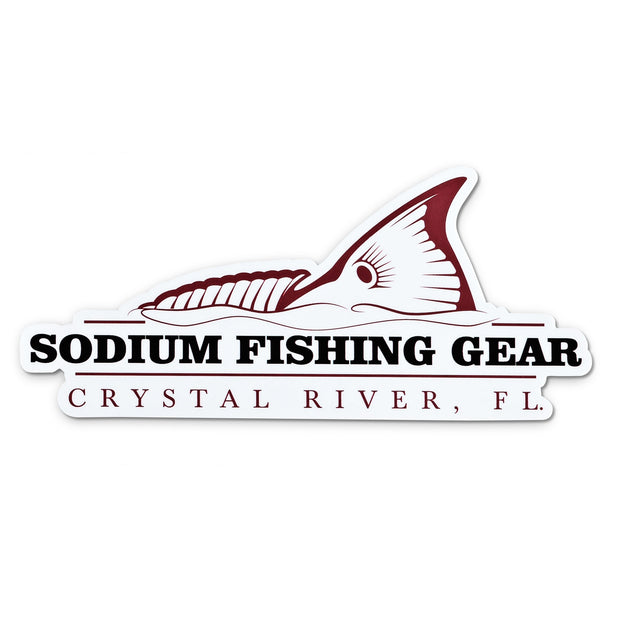 Redfish Tail Sodium Sticker