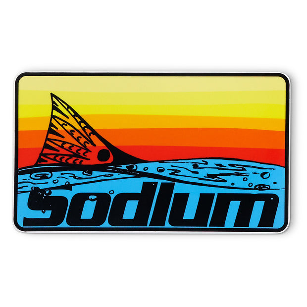 Redfish Tail Rainbow Sodium Sticker