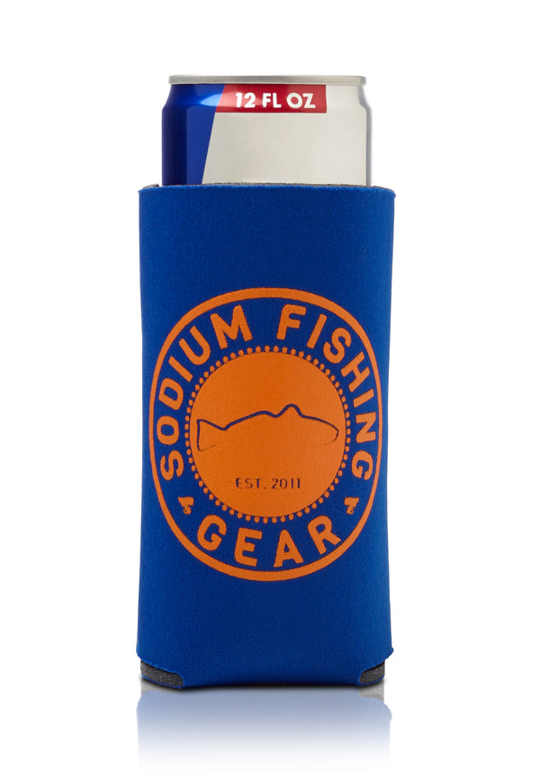 Thin Can Coozie Blue