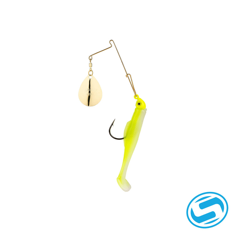 Strike King 1/4Oz Redfish Magic Spinnerbait (Chartreuse Glow/Chartreuse)