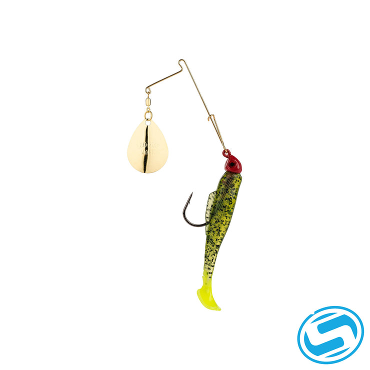 Strike King 1/8Oz Redfish Magic Spinnerbait (Chartreuse Silver/Red Head)